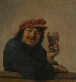 Man Holding a glass roemer