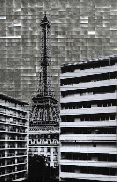 Parigi, 2017, tecnica mista su tela, 120 x 80 cm